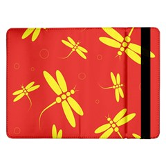 Red and yellow dragonflies pattern Samsung Galaxy Tab Pro 12.2  Flip Case