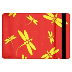 Red and yellow dragonflies pattern iPad Air Flip