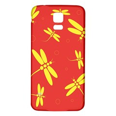 Red and yellow dragonflies pattern Samsung Galaxy S5 Back Case (White)