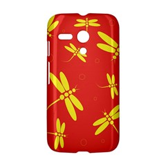 Red and yellow dragonflies pattern Motorola Moto G