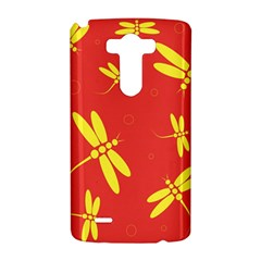 Red and yellow dragonflies pattern LG G3 Hardshell Case