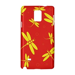 Red and yellow dragonflies pattern Samsung Galaxy Note 4 Hardshell Case