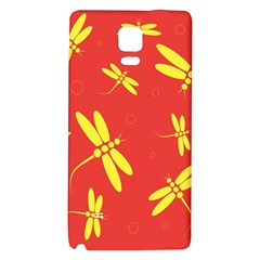 Red and yellow dragonflies pattern Galaxy Note 4 Back Case