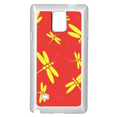 Red and yellow dragonflies pattern Samsung Galaxy Note 4 Case (White)