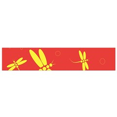 Red and yellow dragonflies pattern Flano Scarf (Small)