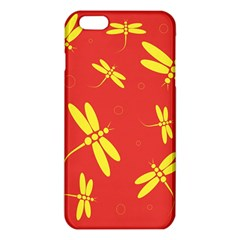 Red and yellow dragonflies pattern iPhone 6 Plus/6S Plus TPU Case