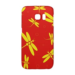 Red and yellow dragonflies pattern Galaxy S6 Edge