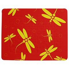 Red and yellow dragonflies pattern Jigsaw Puzzle Photo Stand (Rectangular)