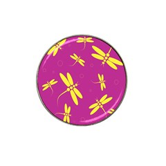Purple and yellow dragonflies pattern Hat Clip Ball Marker