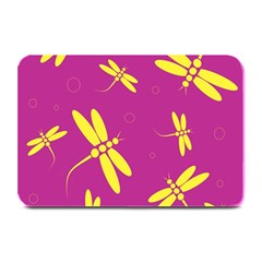 Purple and yellow dragonflies pattern Plate Mats