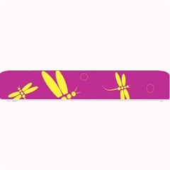 Purple and yellow dragonflies pattern Small Bar Mats