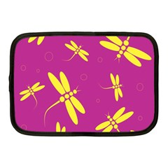 Purple and yellow dragonflies pattern Netbook Case (Medium)