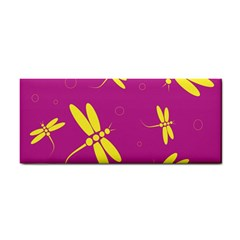 Purple and yellow dragonflies pattern Hand Towel