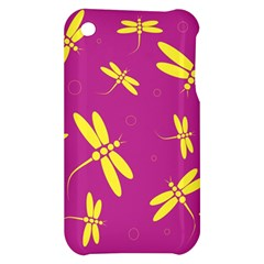 Purple and yellow dragonflies pattern Apple iPhone 3G/3GS Hardshell Case