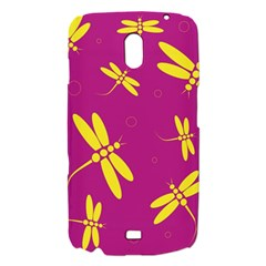 Purple and yellow dragonflies pattern Samsung Galaxy Nexus i9250 Hardshell Case