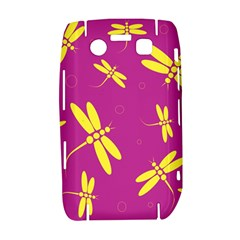 Purple and yellow dragonflies pattern Bold 9700