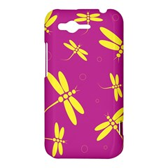 Purple and yellow dragonflies pattern HTC Rhyme
