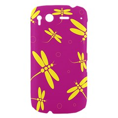 Purple and yellow dragonflies pattern HTC Desire S Hardshell Case