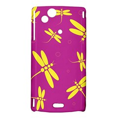 Purple and yellow dragonflies pattern Sony Xperia Arc