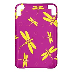 Purple and yellow dragonflies pattern Kindle 3 Keyboard 3G
