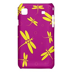 Purple and yellow dragonflies pattern Samsung Galaxy S i9008 Hardshell Case