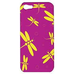 Purple and yellow dragonflies pattern Apple iPhone 5 Hardshell Case
