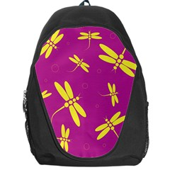 Purple and yellow dragonflies pattern Backpack Bag