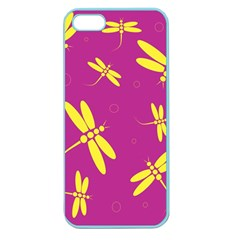 Purple and yellow dragonflies pattern Apple Seamless iPhone 5 Case (Color)