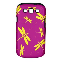 Purple and yellow dragonflies pattern Samsung Galaxy S III Classic Hardshell Case (PC+Silicone)