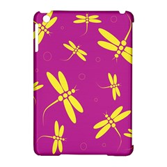 Purple and yellow dragonflies pattern Apple iPad Mini Hardshell Case (Compatible with Smart Cover)
