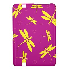 Purple and yellow dragonflies pattern Kindle Fire HD 8.9