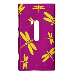 Purple and yellow dragonflies pattern Nokia Lumia 920