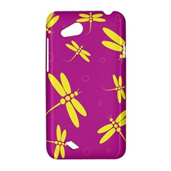Purple and yellow dragonflies pattern HTC Desire VC (T328D) Hardshell Case