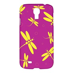 Purple and yellow dragonflies pattern Samsung Galaxy S4 I9500/I9505 Hardshell Case