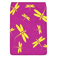 Purple and yellow dragonflies pattern Flap Covers (L)