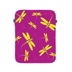 Purple and yellow dragonflies pattern Apple iPad 2/3/4 Protective Soft Cases