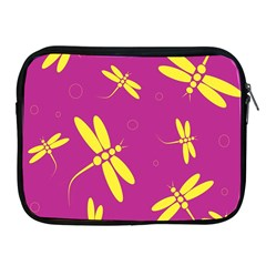 Purple and yellow dragonflies pattern Apple iPad 2/3/4 Zipper Cases
