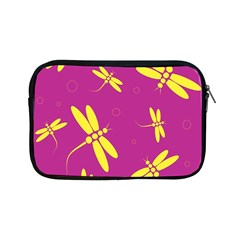 Purple and yellow dragonflies pattern Apple iPad Mini Zipper Cases