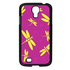 Purple and yellow dragonflies pattern Samsung Galaxy S4 I9500/ I9505 Case (Black)