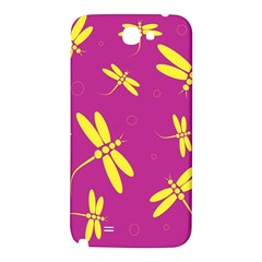 Purple and yellow dragonflies pattern Samsung Note 2 N7100 Hardshell Back Case