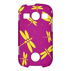 Purple and yellow dragonflies pattern Samsung Galaxy S7710 Xcover 2 Hardshell Case