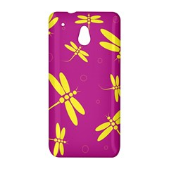 Purple and yellow dragonflies pattern HTC One Mini (601e) M4 Hardshell Case