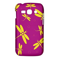 Purple and yellow dragonflies pattern Samsung Galaxy Ace 3 S7272 Hardshell Case
