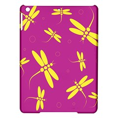 Purple and yellow dragonflies pattern iPad Air Hardshell Cases