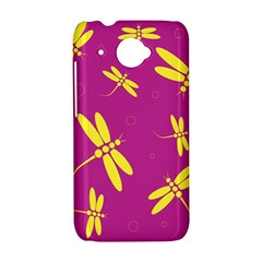 Purple and yellow dragonflies pattern HTC Desire 601 Hardshell Case