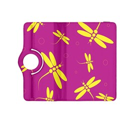 Purple and yellow dragonflies pattern Kindle Fire HDX 8.9  Flip 360 Case