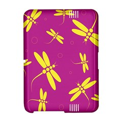 Purple and yellow dragonflies pattern Amazon Kindle Fire (2012) Hardshell Case
