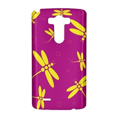 Purple and yellow dragonflies pattern LG G3 Hardshell Case