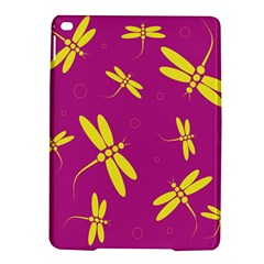 Purple and yellow dragonflies pattern iPad Air 2 Hardshell Cases
