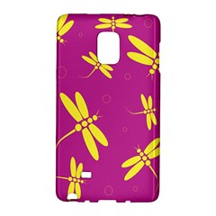 Purple and yellow dragonflies pattern Galaxy Note Edge